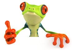 Frog. Cute little frog , 3D generated vector illustration