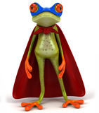 Frog. Cute little frog looking at the camera, 3D generated vector illustration