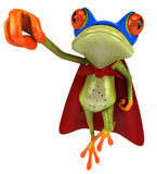 Frog. Cute little frog looking at the camera, 3D generated Royalty Free Stock Photos