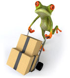 Frog. Cute little frog, 3D generated stock illustration