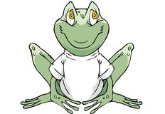 Frog. A Funny Frog Charater With T-Shirt Stock Photo