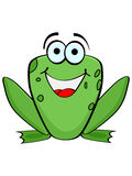 Frog. Happy green frog vector illustration Stock Images