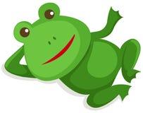 Frog. Illustration of isolated amusing frong on white royalty free illustration