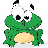 Frog. Cartoon illustration of a cute frog smiling Royalty Free Stock Photography