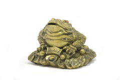 Frog. Metal souvenir in the form of the big toad or a frog Stock Photography