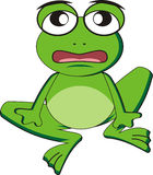 Frog. Illustration of a green frog cartoon Royalty Free Stock Images