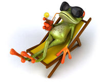 Frog. Cute little frog, 3D generated Stock Photos