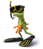 Frog. Cute little frog, 3D generated picture stock illustration