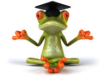 Frog. Cute little frog, 3D generated Stock Photo