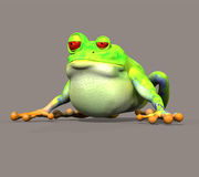 Frog. Digital animals for your artistic creations and/or projects stock illustration