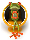 Frog. Cute little frog looking at the camera, 3D generated Stock Photo