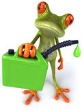 Frog. Cute little frog with oil, 3D generated Stock Image