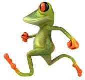 Frog. Cute little frog running, 3D generated vector illustration