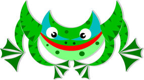 Frog. The fun cartoon frog. It is like smile Stock Image