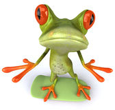 Frog. Cute little frog, 3D generated Royalty Free Stock Image
