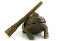Frog, African art. Wood Frog, African art musical instrument Impact Royalty Free Stock Photo