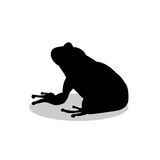 Frog amphibian black silhouette animal Royalty Free Stock Image