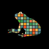 Frog amphibian color silhouette animal. Vector Illustrator Stock Image