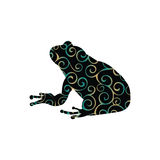 Frog amphibian color silhouette animal. Vector Illustrator Royalty Free Stock Images