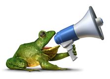 Frog Announcer Stock Images
