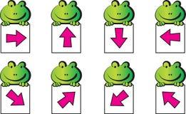 Frog and arrow Stock Photo