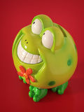 Frog as money box Royalty Free Stock Photos