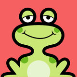 Frog avatar Royalty Free Stock Photos