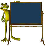 Frog back to school blank Royalty Free Stock Images