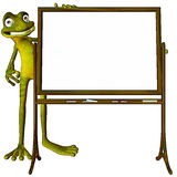 Frog back to school white Royalty Free Stock Image