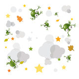 Frog background Royalty Free Stock Image