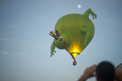 Frog balloon and the moon Stock Photo