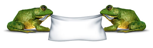 Frog Banner Sign Royalty Free Stock Photography
