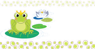 Frog baptism invitation Stock Photography
