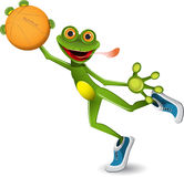 Frog basketball Royalty Free Stock Photos