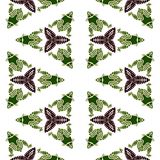 Frog batik pattern Royalty Free Stock Image