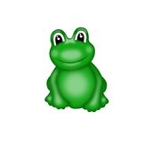 frog with big eyes Royalty Free Stock Images