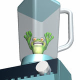 Frog in a Blender 2 Royalty Free Stock Photos