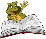 Frog And Book Stock Photo