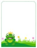 Frog border frame Royalty Free Stock Photography