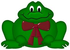 Frog with bow tie Royalty Free Stock Images