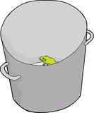 Frog in Bucket Royalty Free Stock Images