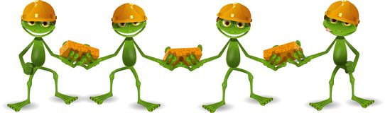 Frog builders Royalty Free Stock Photo