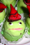 Frog cake Stock Images