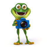 Frog with camera Royalty Free Stock Image