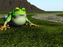 Frog cartoon royalty free illustration