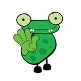 Frog cartoon art vector illustration Royalty Free Stock Images