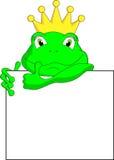 Frog cartoon with blank sign Stock Photos
