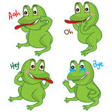 Frog cartoon cute Stock Photos