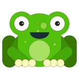 Frog in cartoon flat style stock illustration