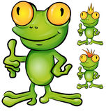 Frog cartoon set Stock Photography